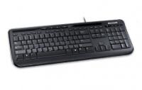 Teclado Microsoft 600, Alámbrico, USB, Negro (Español)