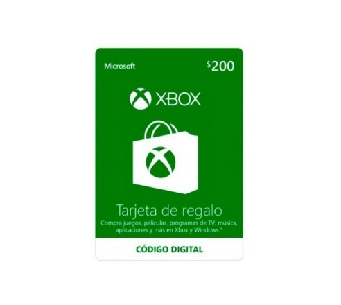 Microsoft Xbox Live Gift Card, $200 ― Producto Digital Descargable