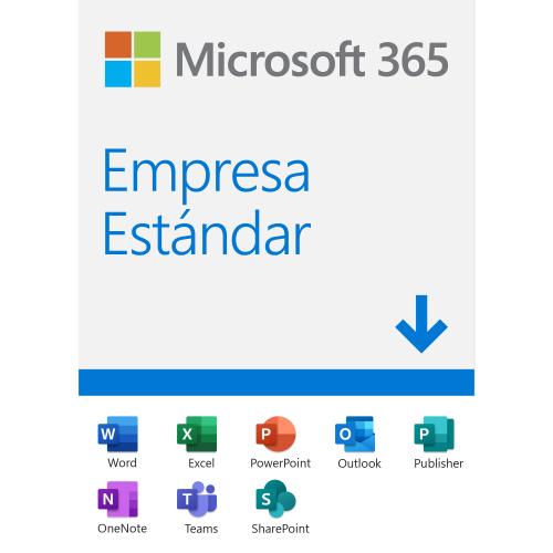 Microsoft 365 Empresa Estándar, 64-bit, 1 Usuario, 5 Dispositivos, Plurilingüe, Windows/Mac ― Producto Digital Descargable ― ¡Obtenga descuento al comprar con equipo de cómputo seleccionado!