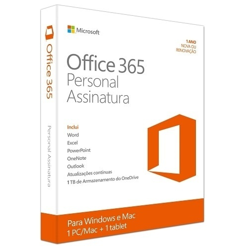 Microsoft  Office 365 Personal, 32/64-bit, 1 PC, 1 Año, Plurilingüe, Windows/Mac/Android/iOS ― Producto Digital Descargable