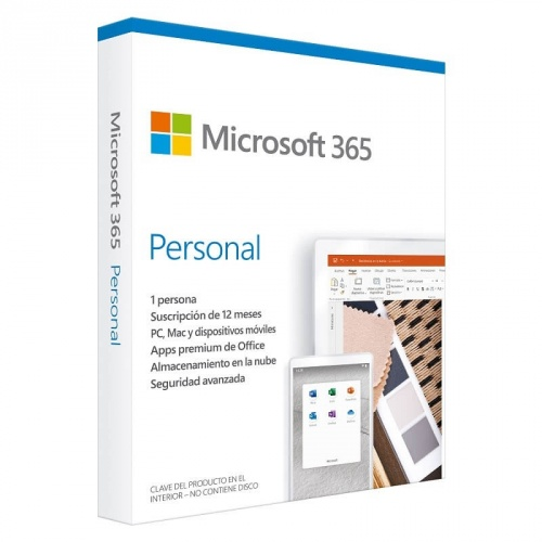 Microsoft 365 Personal, 32/64-bit, 1 Usuario, 5 Dispositivos, Español, Windows/Mac/Android/iOS