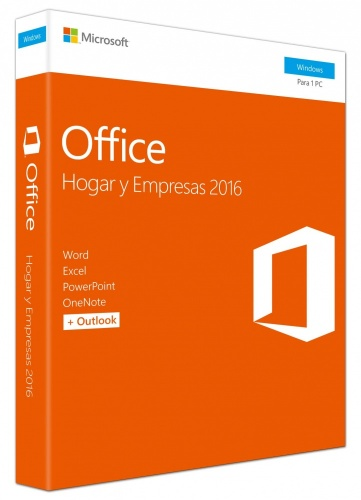 Microsoft Office Hogar y Empresas 2016 Español, 32/64-bit, 1 PC, para Windows