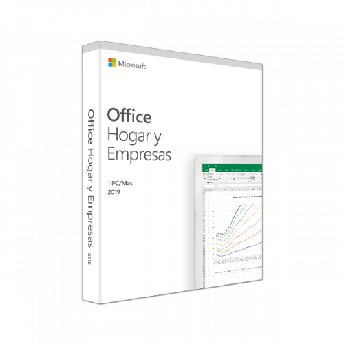 Microsoft Office Hogar y Empresas 2019, 1 PC, Español, Windows/Mac