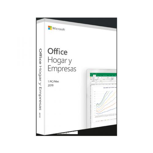 Microsoft Office Hogar y Empresas 2019, 1 PC, Español, Windows/Mac