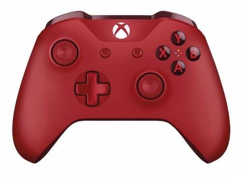 Microsoft Gamepad para Xbox One/Xbox One S, Inalámbrico, Bluetooth, Rojo