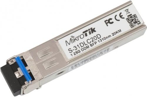 MikroTik Módulo Transceptor MiniGbic SFP 1.25G, LC Duplex Monomodo, 1250 Mbit/s, 20KM