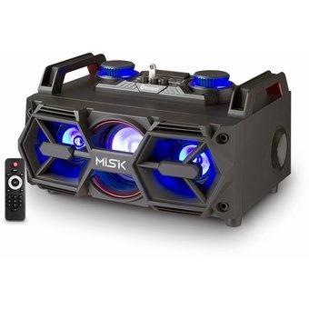 Misik Bocina MS2300, Bluetooth, Inalámbrico, 4.0, 2500W PMPO, Negro