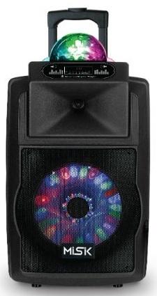 Misik Bafle MB2011, Bluetooth, Inalámbrico, USB, Negro