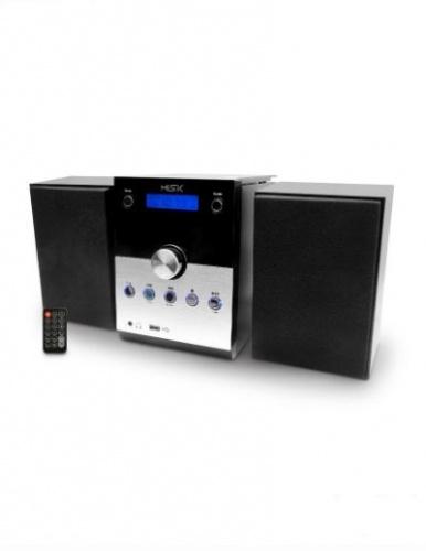 Misik MM618 Micro Componente, Bluetooth, 3.6W RMS, Negro/Plata