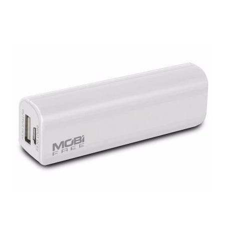 Cargador Portátil Mobifree Power Bank MB-01061, 2200mAh, Blanco