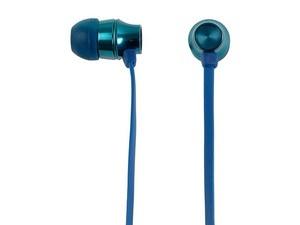 Mobifree Audífonos Intrauriculares con Micrófono Metalic, Alámbrico, 1.2 Metros, 3.5mm, Azul