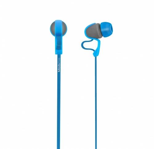 Mobifree Audífonos Intrauriculares con Micrófono Urban Kaos, Alámbrico, 1.2 Metros, 3.5mm, Azul