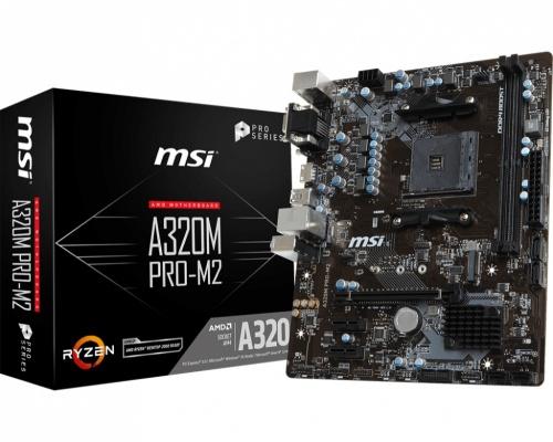 Tarjeta Madre MSI Micro ATX A320M PRO-M2, S-AM4, AMD A320, HDMI, 32GB DDR4-SDRAM para AMD