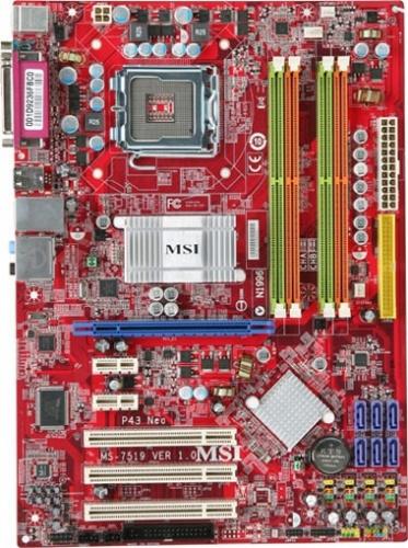 Tarjeta Madre MSI ATX P45 Neo-F, S-775, Intel P45+ICH10, 16GB DDR2, para Intel