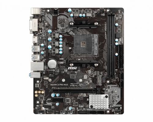 Tarjeta Madre MSI AMD A320M-A PRO MAX, S-AM4, AMD A320, HDMI, 32GB DDR4 para AMD
