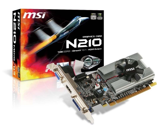 Tarjeta de Video MSI NVIDIA GeForce 210, 1GB 64-bit DDR3, PCI Express 2.0