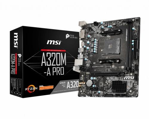 Tarjeta Madre MSI Micro ATX A320M-A PRO, S-AM4, AMD A320, HDMI, 32GB DDR4 para AMD ― Requiere Actualización de BIOS para la Serie Ryzen 3000