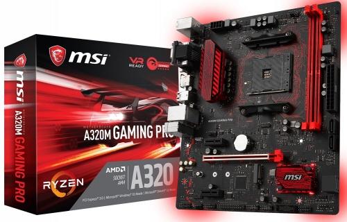 Tarjeta Madre MSI micro ATX A320M GAMING PRO, S-AM4, AMD A320, HDMI, 32GB DDR4, para AMD