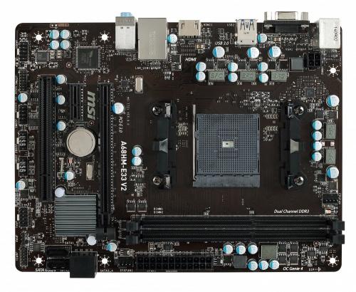 Tarjeta Madre MSI microATX A68HM-E33 V2, S-FM2+, AMD A68H, HDMI, 32GB DDR3 para AMD