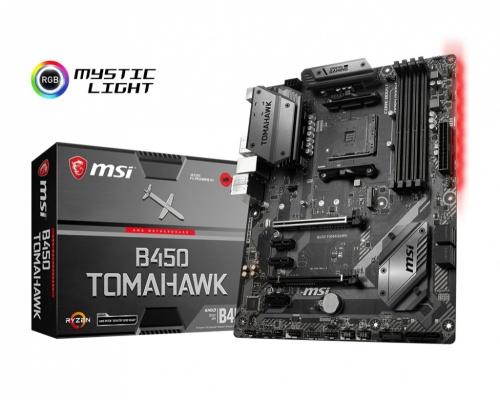 Tarjeta Madre MSI ATX B450 TOMAHAWK, S-AM4, AMD B450, HDMI, 64GB DDR4, para AMD