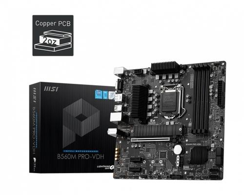 Tarjeta Madre MSI Micro ATX B560M PRO-VDH, S-1200, Intel B560, HDMI, 128GB DDR4 para Intel