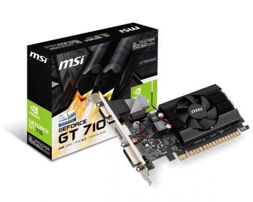 Tarjeta de Video MSI NVIDIA GeForce GT 710, 2GB 64-bit GDDR3, PCI Express 2.0
