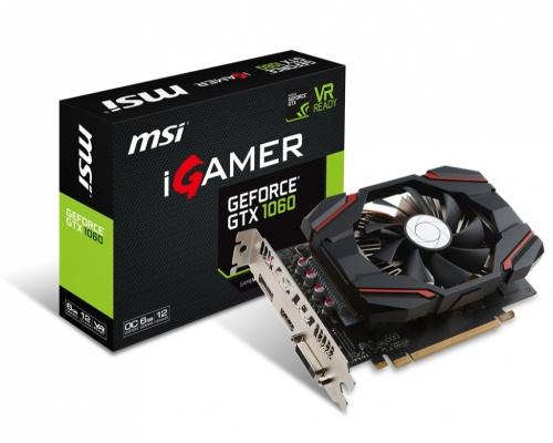 Tarjeta de Video MSI NVIDIA GeForce GTX 1060 iGAMER OC, 6GB 192-bit GDDR5, PCI Express x16 3.0 ― ¡Recibe Fortnite Counterattack Set!