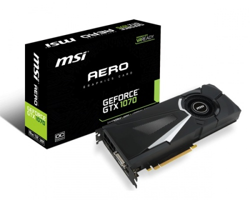 Tarjeta de Video MSI NVIDIA GeForce GTX 1070 Aero OC, 8GB 256-bit GDDR, PCI Express 3.0 x16