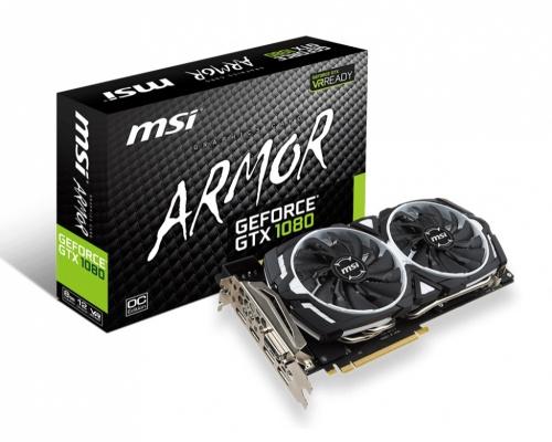 Tarjeta de Video MSI NVIDIA GeForce GTX 1080 Armor OC, 8GB 256-bit GDDR5X, PCI Express 3.0 x16