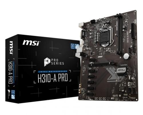Tarjeta Madre MSI ATX H310-A PRO, S-1151, Intel H310, HDMI, 32GB DDR4 para Intel ― Compatibles solo con 8va & 9va Generación