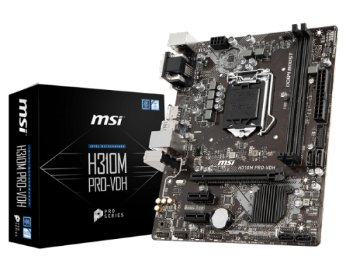 Tarjeta Madre MSI microATX H310M PRO-VDH, S-1151, Intel H310, 32GB DDR4 para Intel ― Compatibles solo con 8va & 9va Generación