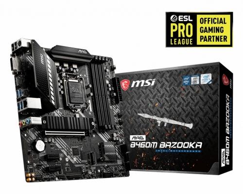 Tarjeta Madre MSI micro ATX MAG B460M BAZOOKA, S-1200, Intel B460, HDMI, 128GB DDR4 para Intel