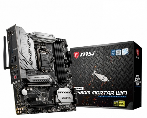 Tarjeta Madre MSI micro ATX MAG B460M MORTAR WIFI, S-1200, Intel B460, HDMI, 128GB DDR4 para Intel