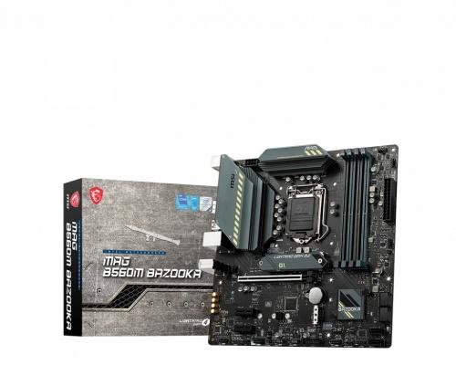 Tarjeta Madre MSI Micro ATX MAG B560M BAZOOKA, S-1200, Intel B560, HDMI, 128GB DDR4 para Intel