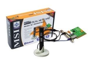 MSI Tarjeta de Red PCI MS-6852, Alámbrico/Inalámbrico, WLAN, Bluetooth, 54 Mbit/s