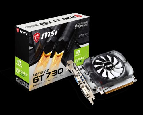 Tarjeta de Video MSI NVIDIA GeForce GT 730, 2GB 128-bit GDDR3, PCI Express x16 2.0