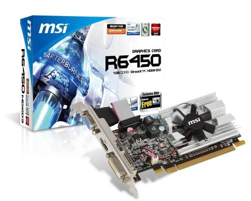 Tarjeta de Video MSI AMD Radeon HD 6450, 1GB 64-bit GDDR3, PCI Express 2.1