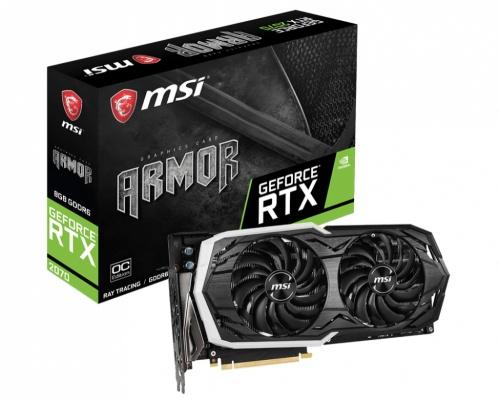Tarjeta de Video MSI NVIDIA GeForce RTX 2070 ARMOR OC, 8 GB 256 bit GDDR6, PCI Express x16 3.0 ― ¡Compra y recibe 1 juego GRATIS! (a elegir entre Battlefield V o Anthem)