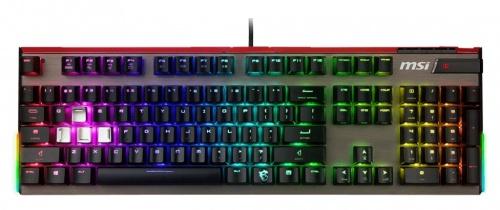 Teclado Gamer MSI Vigor GK80 RGB, Teclado Mecánico, Cherry MX Red, Alámbrico, Negro