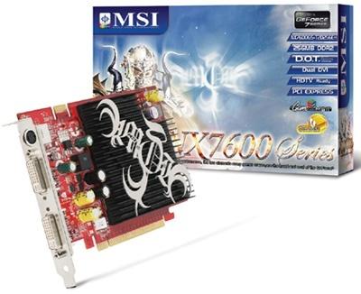 Tarjeta de Video MSI NVIDIA Geforce 7600GS, 256MB 128-bit GDDR2, PCI Express x16