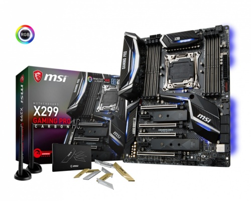 Tarjeta Madre MSI ATX X299 Gaming Pro Carbon AC, S-2066, Intel X299, HDMI, 128GB DDR4 para Intel