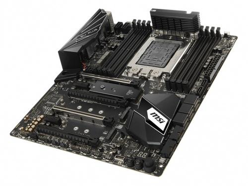 Tarjeta Madre MSI ATX X399 SLI PLUS, S-TR4, AMD X399, 128GB DDR4 para AMD