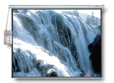 Multimedia Screens Pantalla de Proyección Eléctrica MSE-213, 84'', Blanco