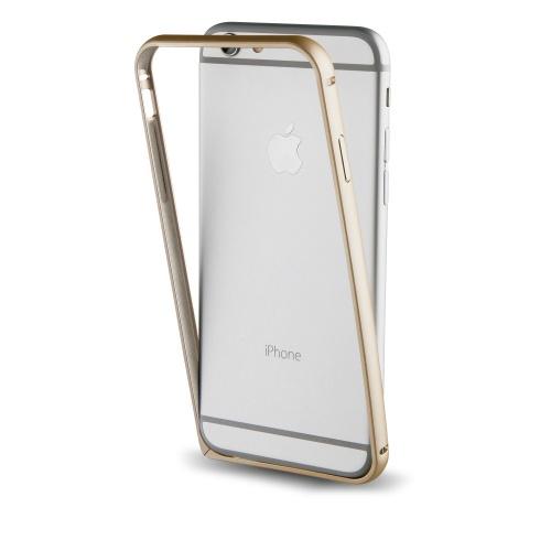 Muvit Bumper Aluminum para iPhone 7, Oro