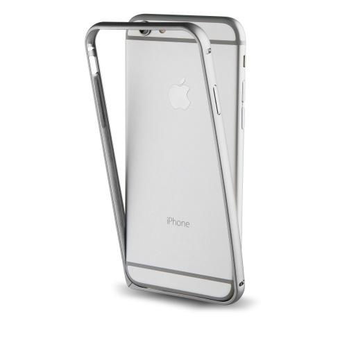 Muvit Bumper Aluminum para iPhone 7, Plata