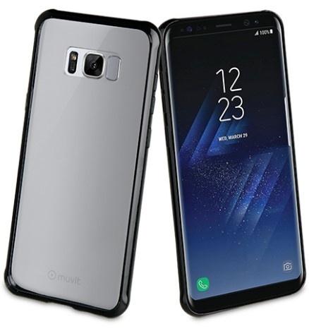 Muvit Bumper para Samsung Galaxy S8, Negro