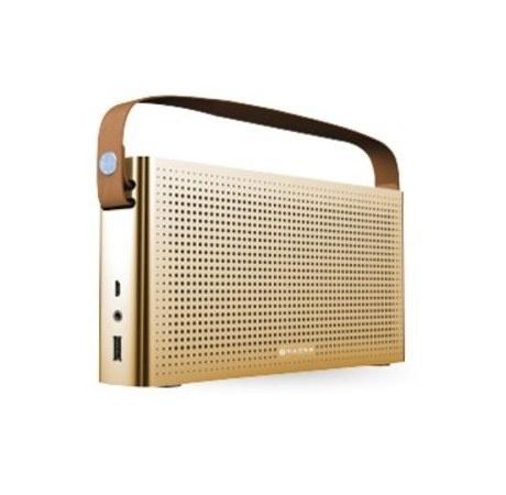 Naceb Bocina Portátil NA-0301, Bluetooth, Inalámbrico, USB 2.0, Oro