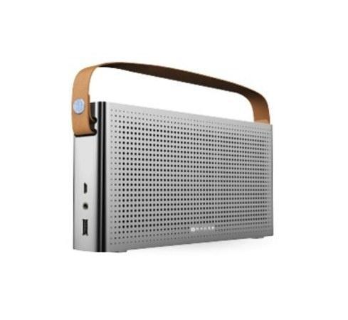 Naceb Bocina Portátil NA-0301, Bluetooth, Inalámbrico, USB 2.0, Plata