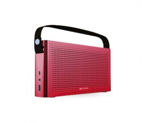 Naceb Bocina Portátil NA-0301, Bluetooth, Inalámbrico, USB 2.0, Rojo