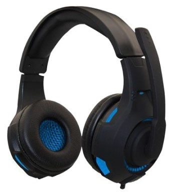 Naceb Audífonos Gamer NA-0304A, Alámbrico, 3.5mm, Negro/Azul